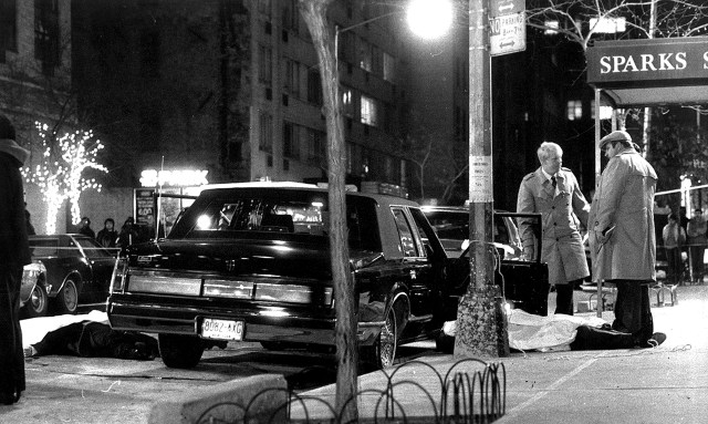 Gotti had ordered the death of Paul Castellano, pictured dead on the sidewalk
