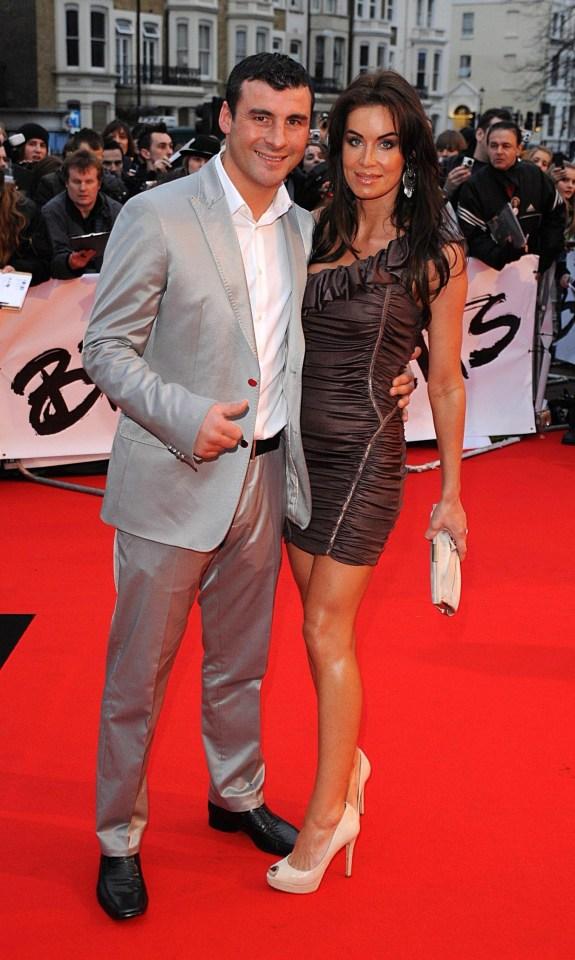 Boxer Joe Calzaghe and ex-girlfriend Emma Jo Larvin