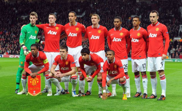 Jones, De Gea and Berbatov line up for United ahead of 2011 Champions League group match against Benfica