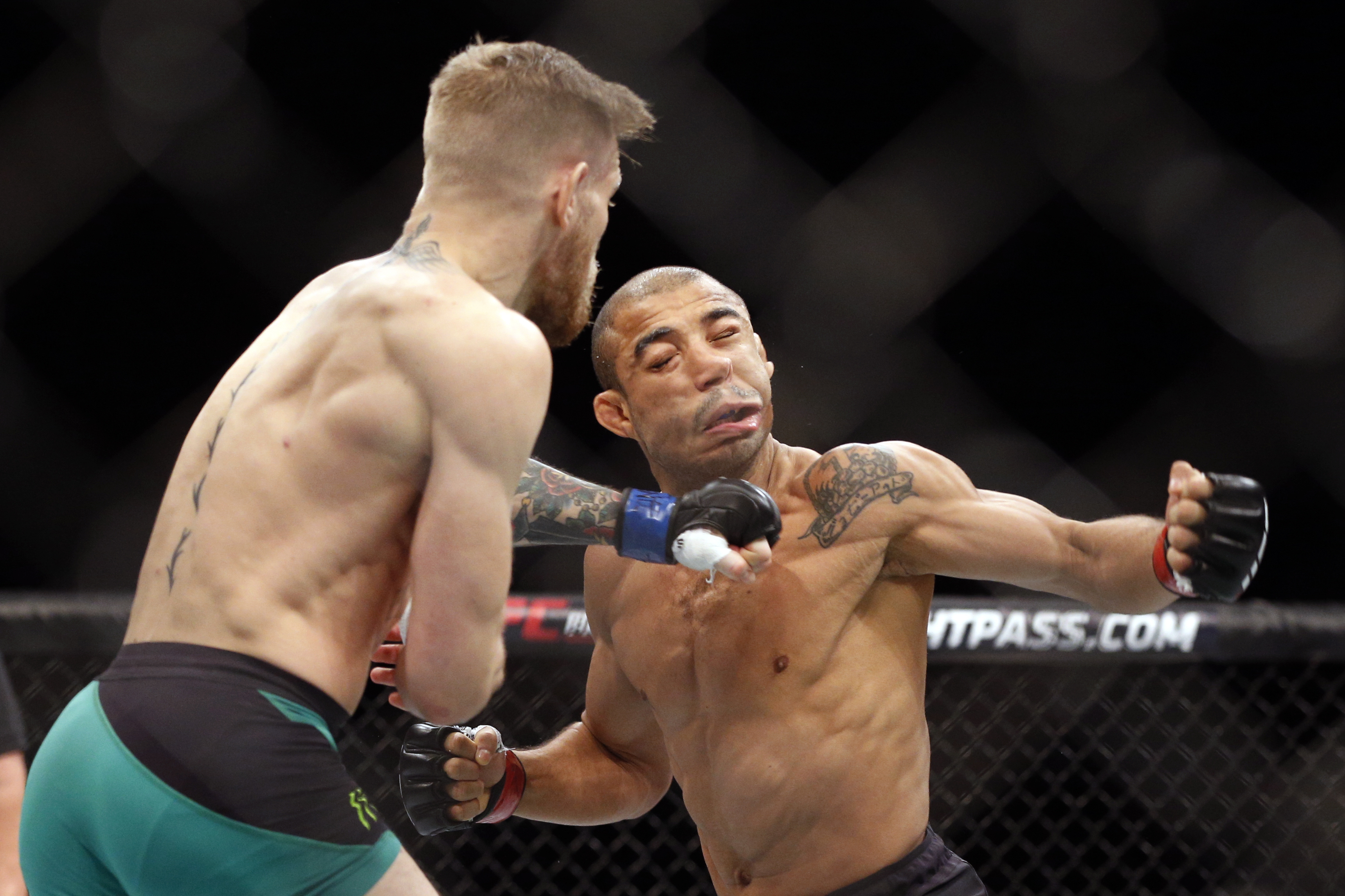 McGregor knocked out Jose Aldo in 13 seconds in 2015 to claim the UFC featherweight title