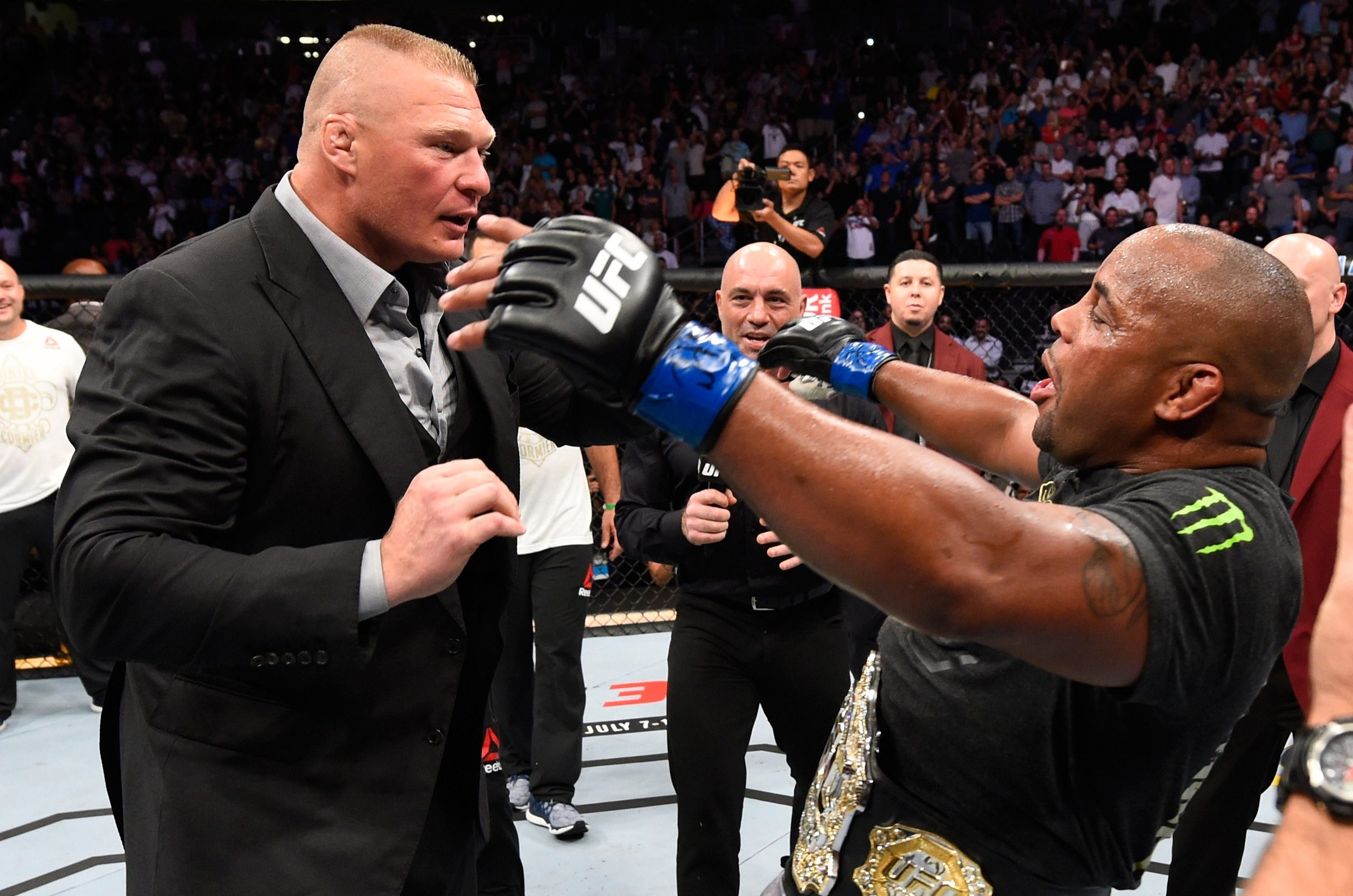 UFC heavyweight champion Daniel Cormier is in line to fight WWE star Brock Lesnar, according to UFC president Dana White