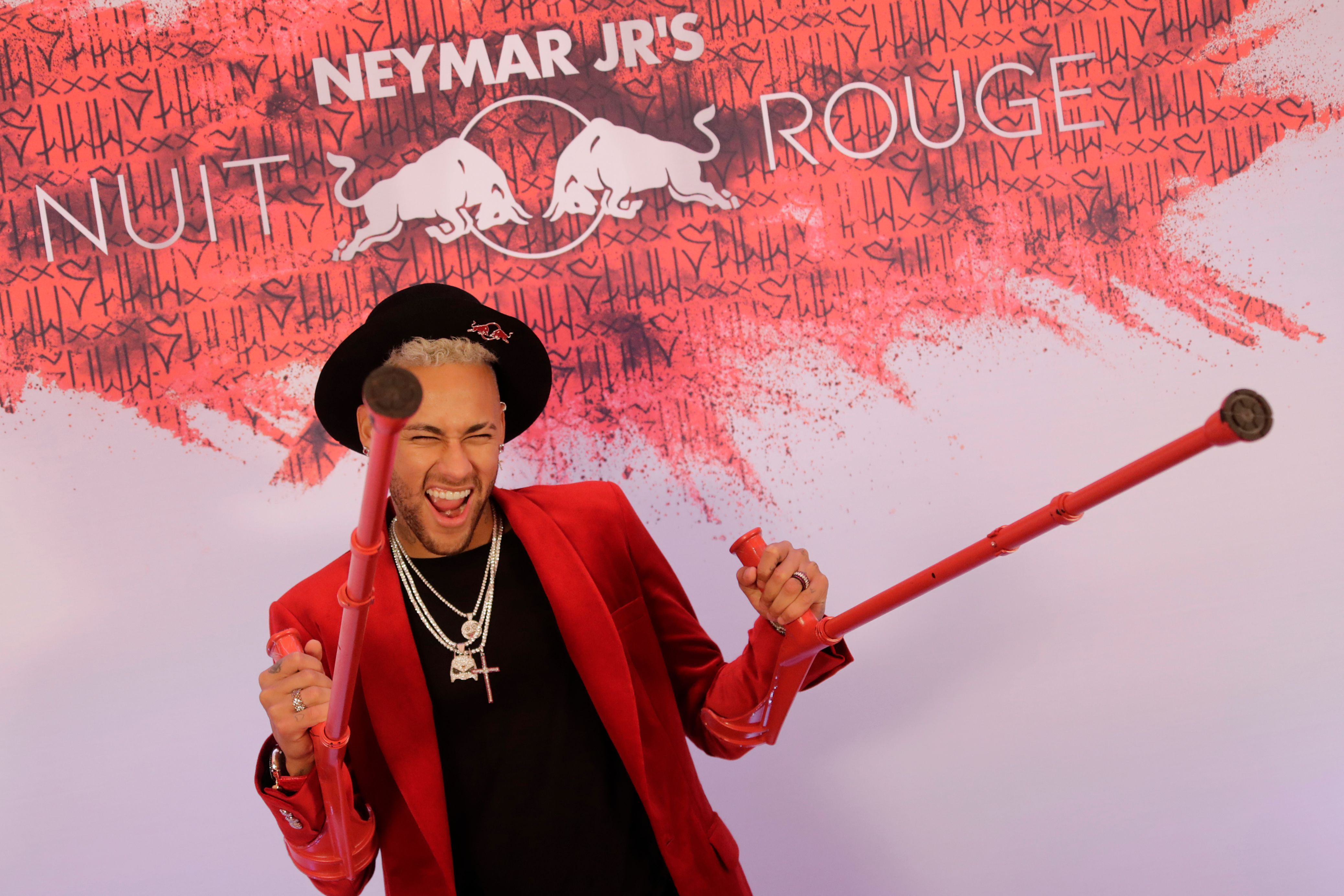 Neymar hosted a red-theme birthday bash in Paris last month