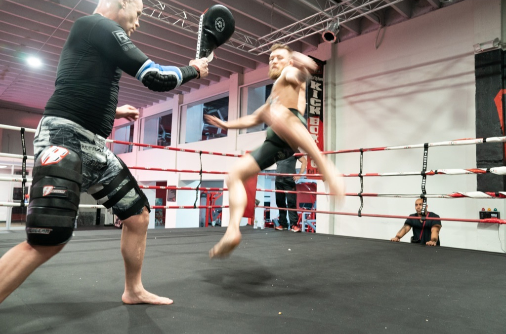 McGregor also posted pictures training in a gym just says after his arrest