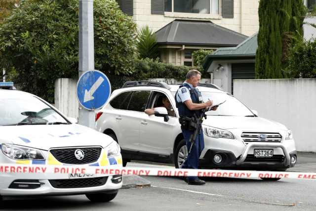 Police rushed to the scene in Christchurch after the massacre
