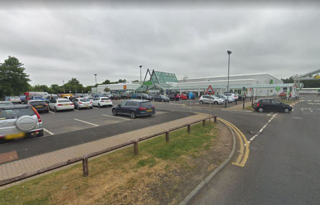 She targeted the first child in the women's bathroom at Halbeath Asda, file image, on February 8 last year