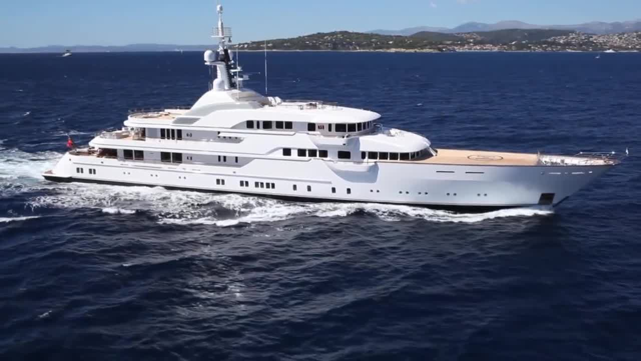 The billionaire's super-yacht, the Hampshire II, cost £130m and includes a swimming pool, helipad and room for 14 guests