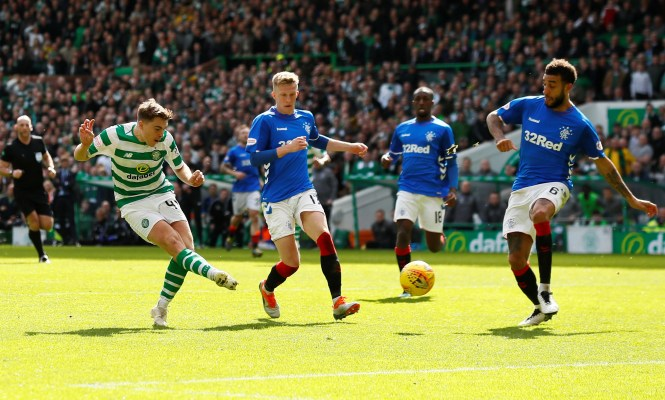 James Forrest's dramatic late goal won the Old Firm Derby for Celtic