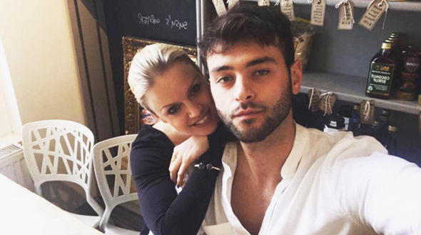 Joanne Clifton with her ex Joe Edward-Bader