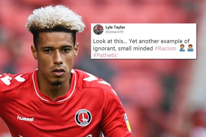 Chelsea star Lyle Taylor is set to report a Bradford fan to police after he was subjected to several racial slurs on Twitter