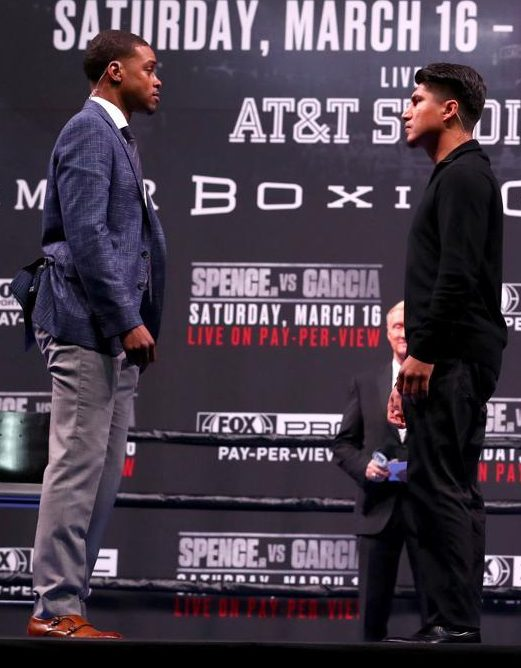 Mikey Garcia will try to show that good smaller fighters can shock good bigger rivals as he steps up two divisions to challenge Errol Spence for his IBF world welterweight title
