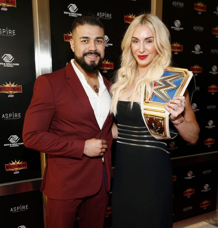 WWE stars Andrade and Charlotte Flair announced their New Years engagement