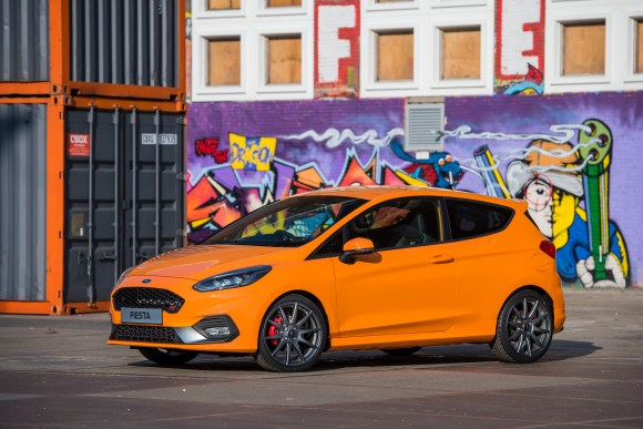 The very orange Fiesta ST Ford Performance Edition