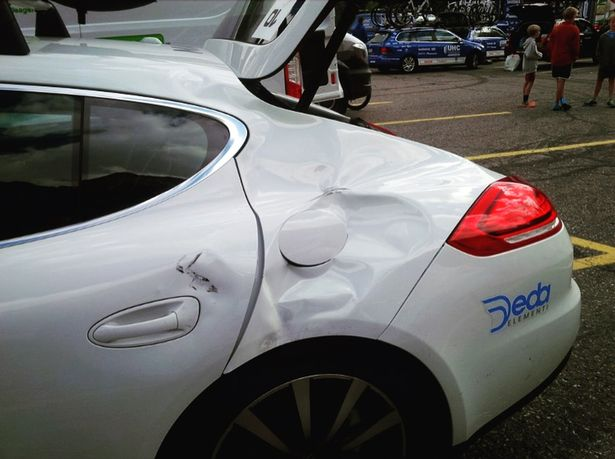 Brammeier smashed into the back of a team car during the 2015 race