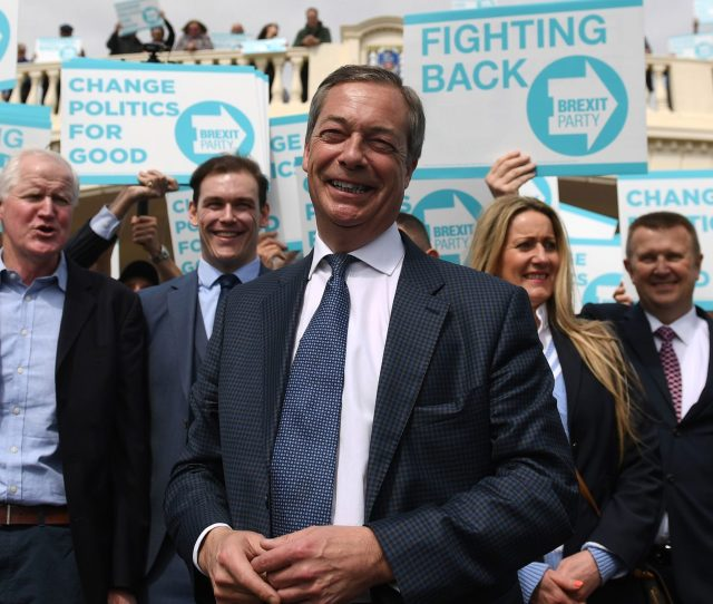 Nigel Farages Brexit Party Is Climbing Up The Polls
