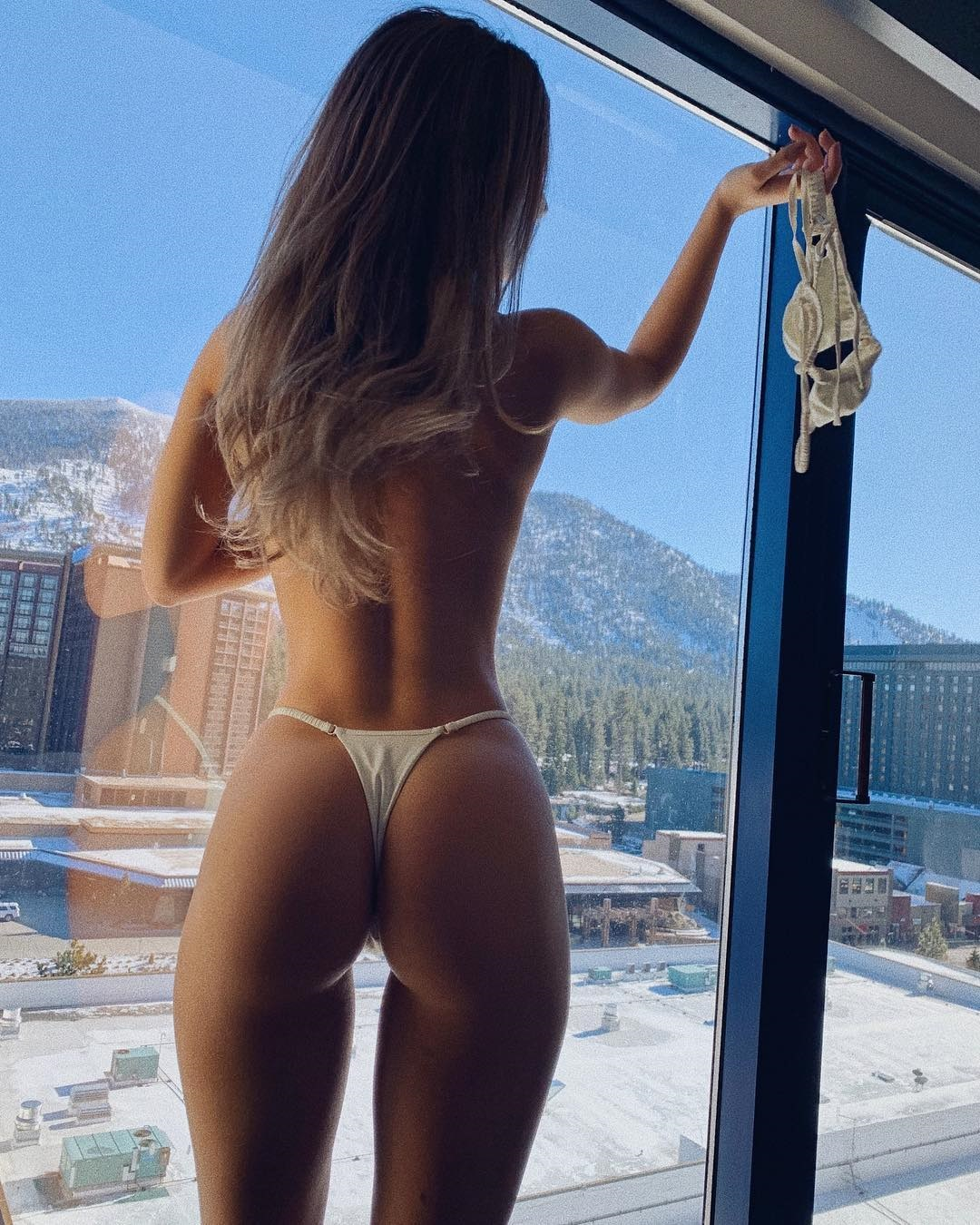 Daisy Keech, 19, wanted to prove to her Instagram followers that her bum was real after detractors claimed she'd had surgery