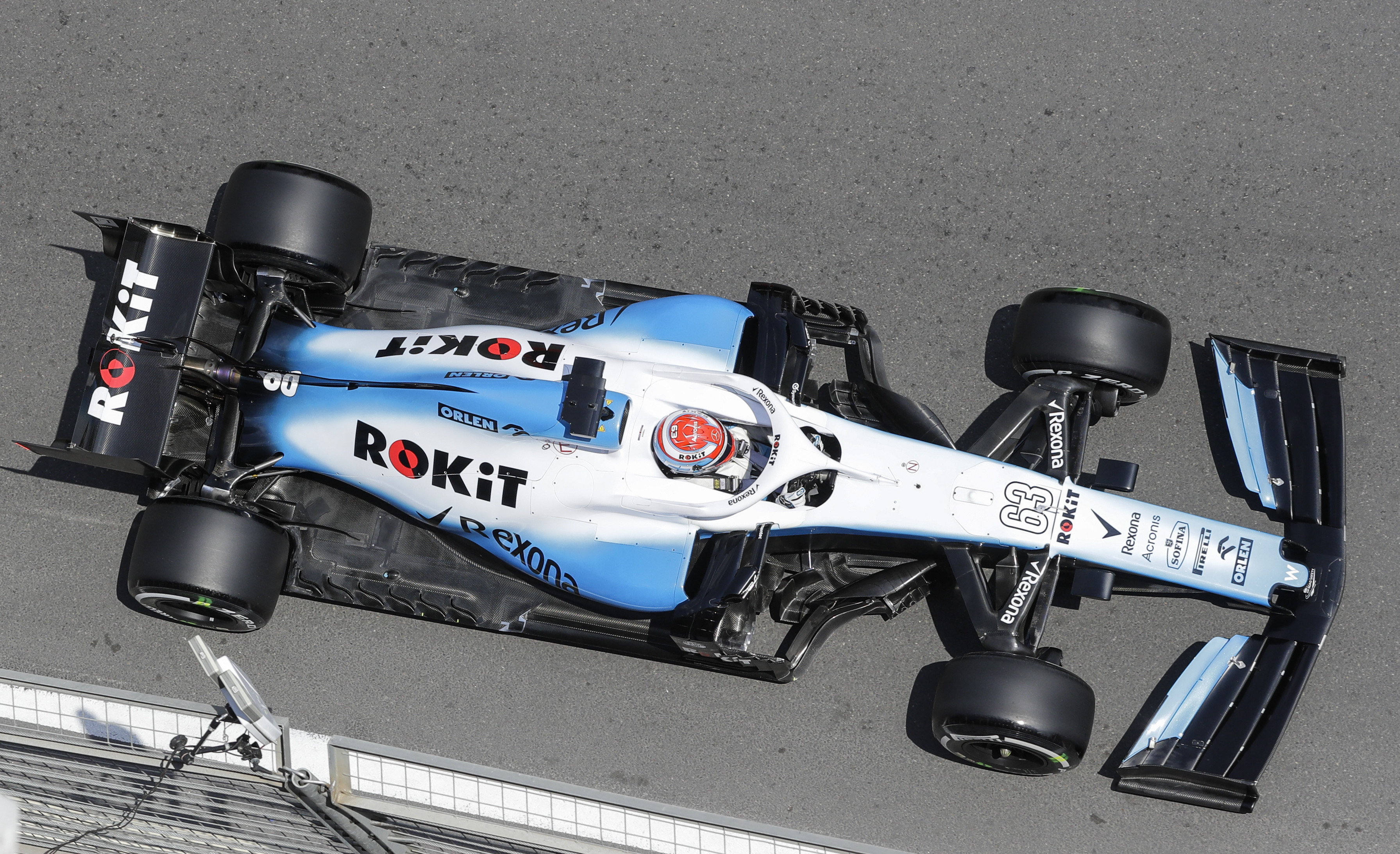 Williams have yet to score a point this season, but things went from bad to worse after George Russell's car hit a loose manhole in Friday's practice in Azerbaijan