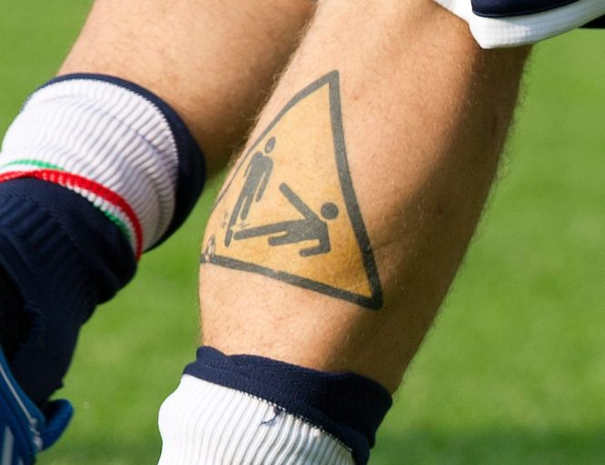 De Rossi's tattoo depicts exactly what his game was all about