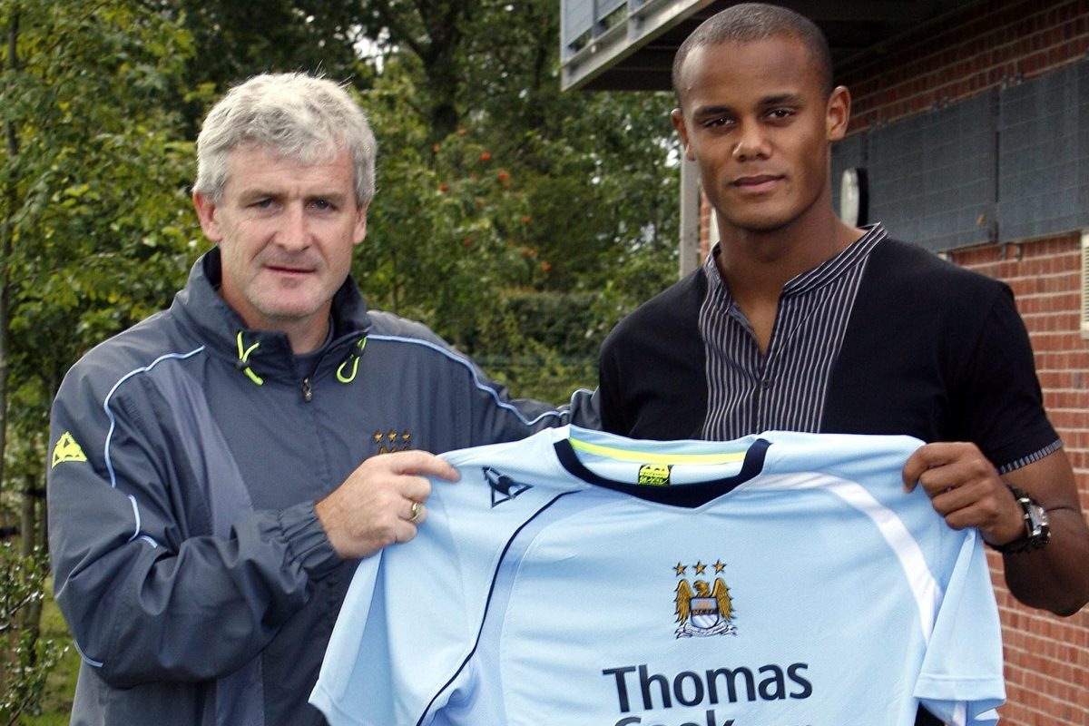 low priced 904ac e8474 Signed as a central midfielder, Vincent Kompany became the ...
