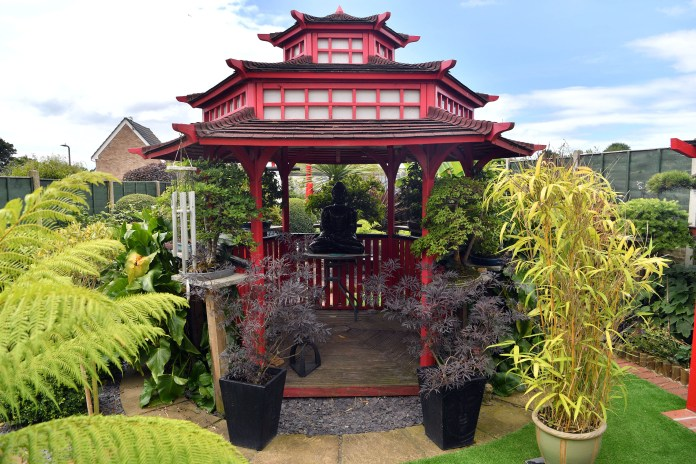 Mr Knight spent £40,000 and five years transforming the garden