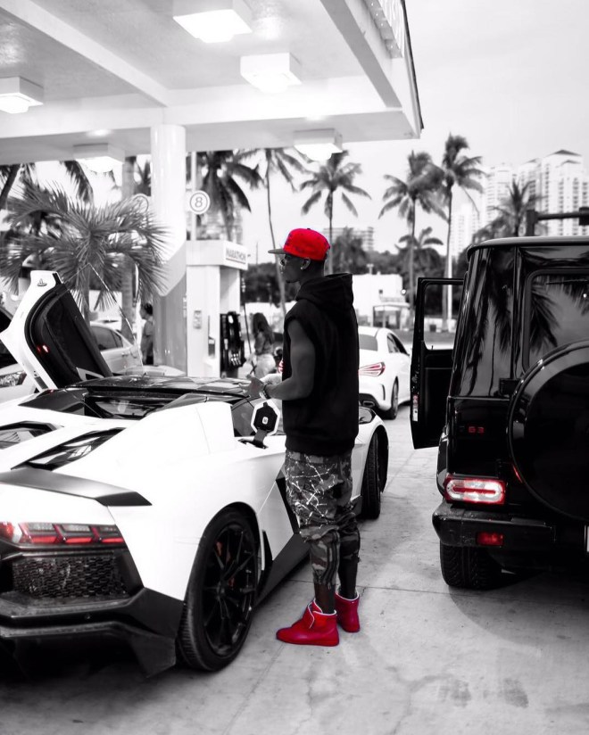 Pogba's car collection also boasts a £271k Lamborghini Aventador