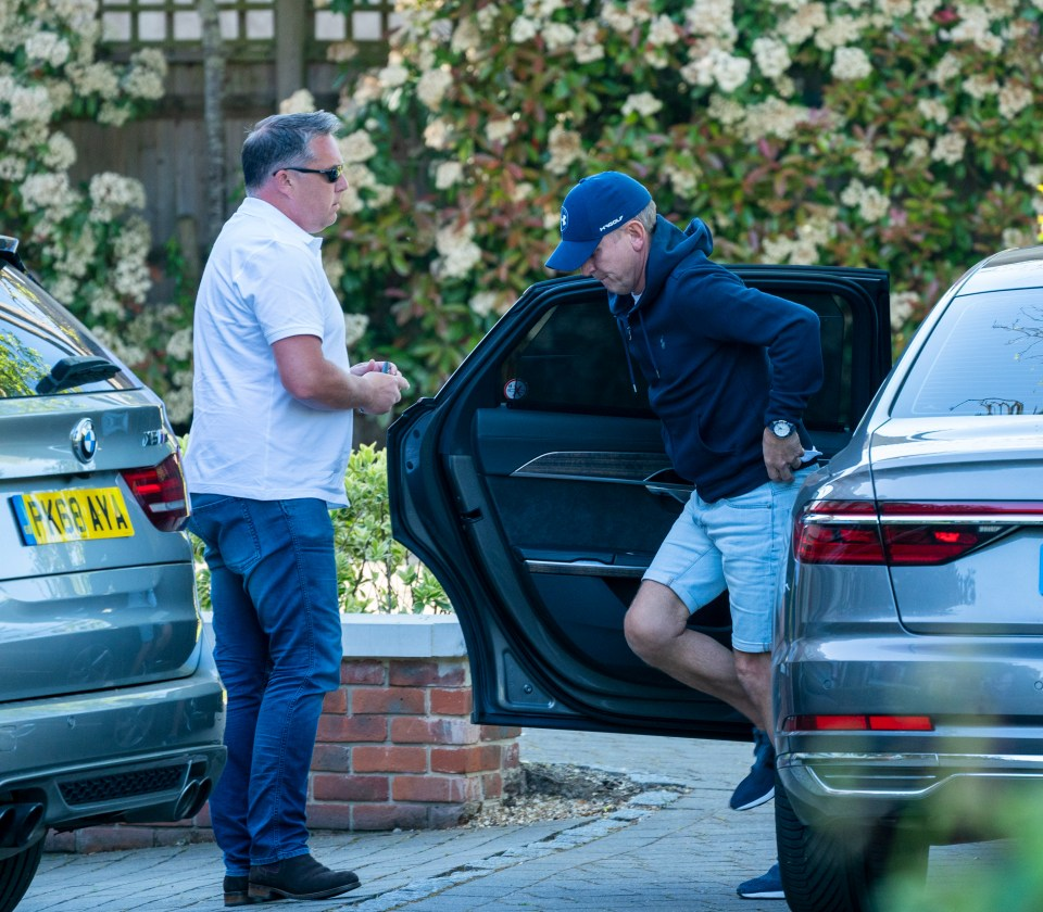 Jeremy Kyle seen arriving at his home yesterday
