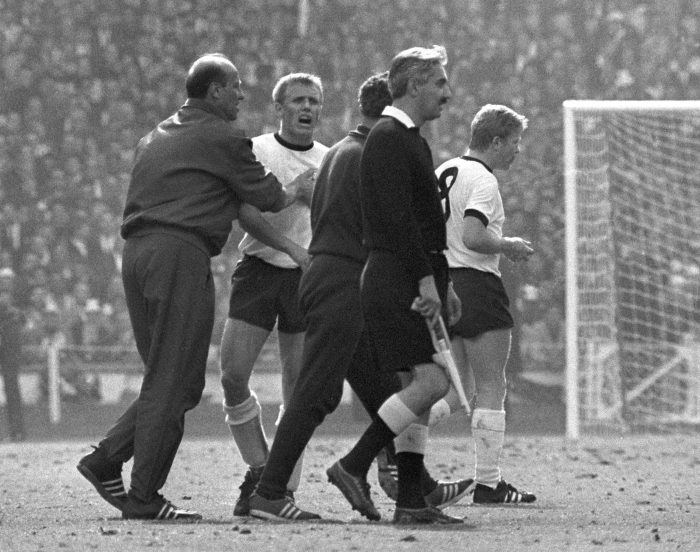Bahramov was blasted by the Germany players on the Wembley pitch but later apologised after seeing a replay