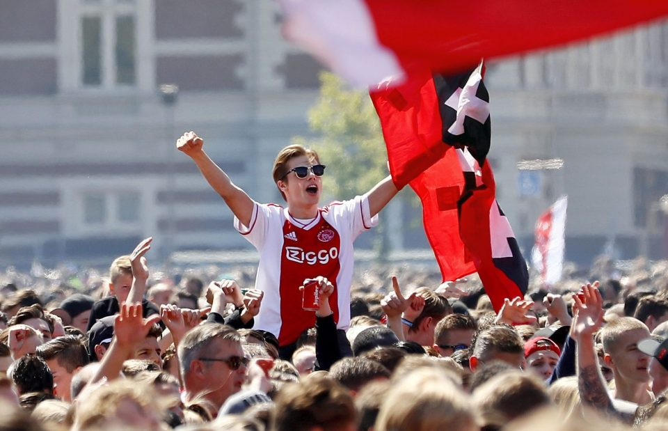 Fans were also celebrating the Dutch Cup success, which meant a domestic double for the first time since 2002