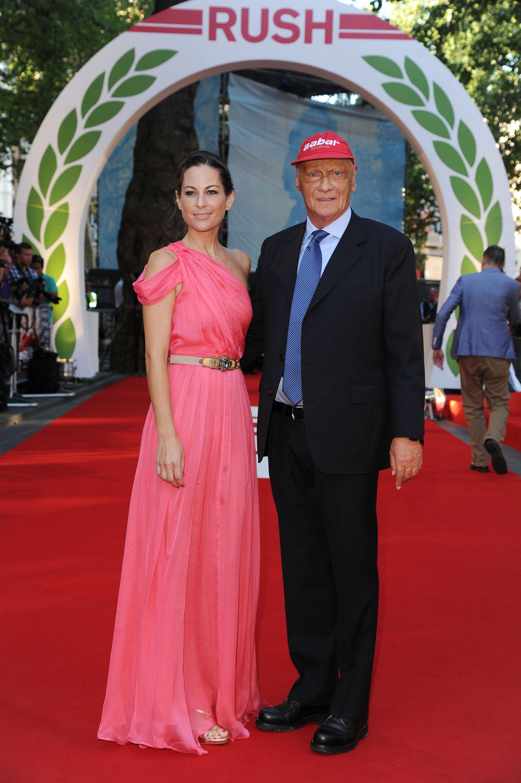Austrian former Formula One driver Niki Lauda and wife Birgit in 2016