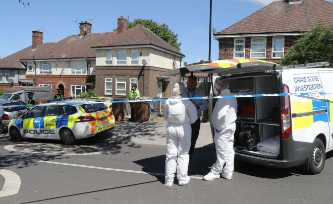 Forensic officers examined a three-bed semi in the Shiregreen neighbourhood