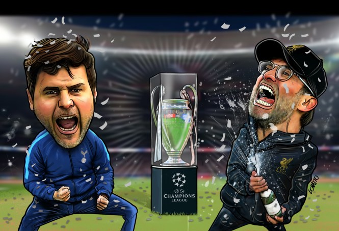 Mauricio Pochettino or Jurgen Klopp will return from Madrid as an instant immortal with their squad