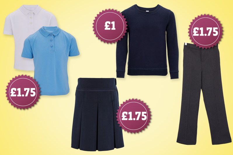 You can treat your kids to a new school uniform for just £4.50 thanks to Aldi