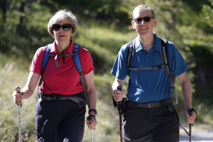 The  outgoing PM is looking forward to doing some walking with husband Philip after leaving office