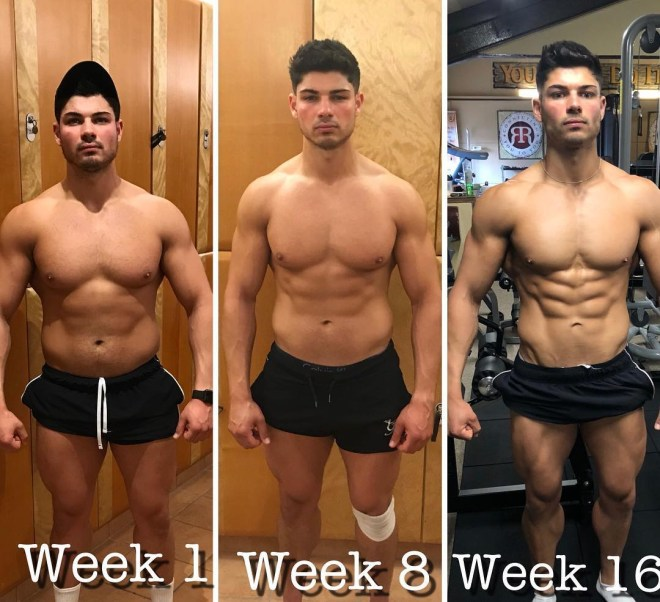 Love Island's Anton documented his muscle build on Instagram