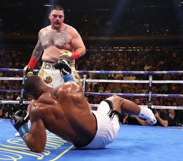 Anthony Joshua was battered by Andy Ruiz in one of boxing's biggest shocks