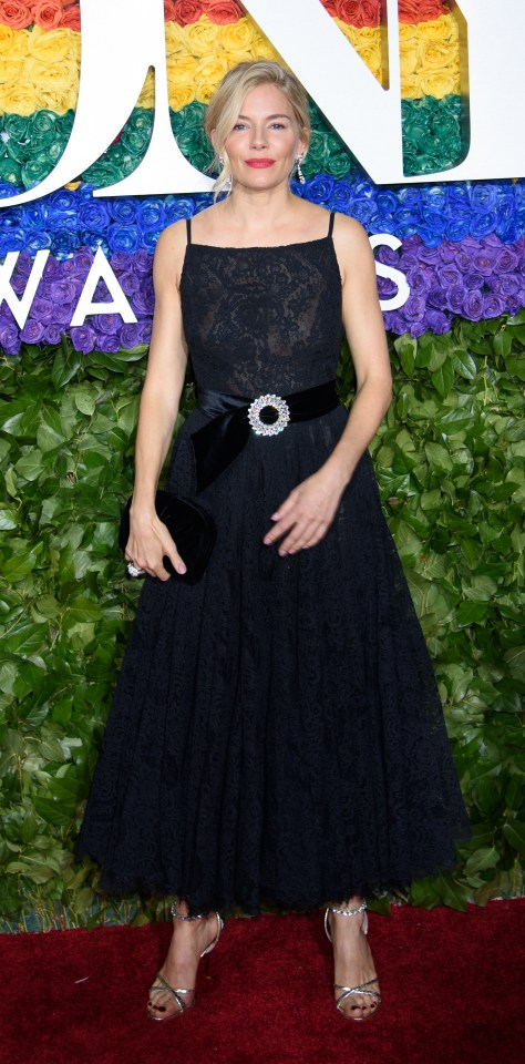 Sienna Miller stunned in an elegant black ensemble
