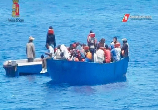 This image emerged after Italian authorities seized Klemp's boat in 2017