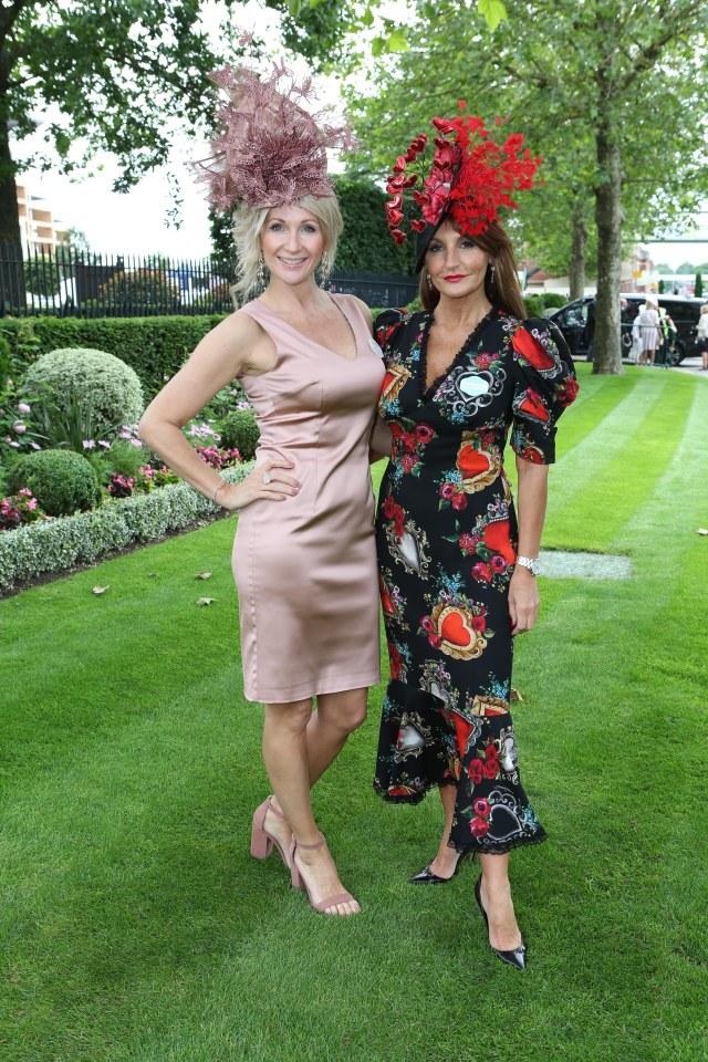 Designer Ilda Di Vico, right, and Tami Thunder-Rogers Wear Ilda Di Vico Ascot Day
