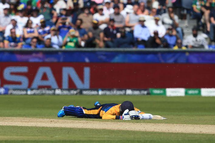 Sri Lanka batsman Isuru Udana made 17 amid the stoppage