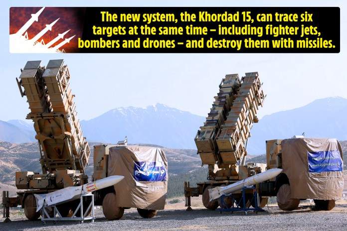 Iran unveils new missile defence system that destroys six