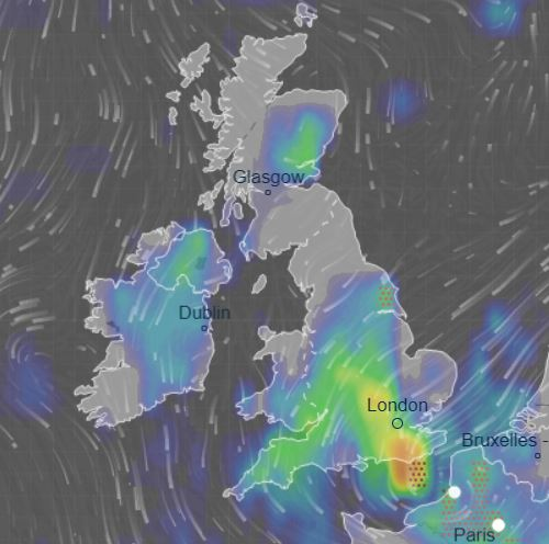 Britain is set to be battered by thunderstorms and rain today