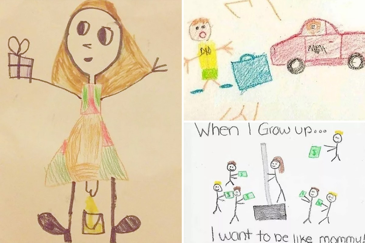 kids drawings show what