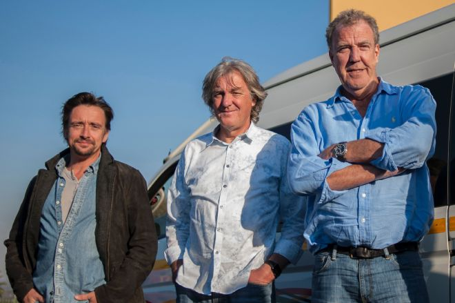 Clarkson's co-stars James May and Richard Hammond came second and third respectively
