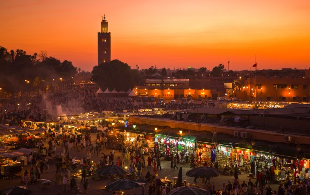 Explore Marrakech's bustling souks this October for a budget price