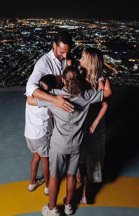 Kate and Rio Ferdinand celebrate their engagement with Rio's kids