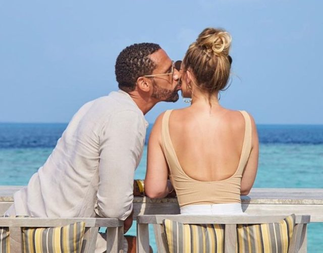 The couple are besotted with each other and are just months away from tying the knot