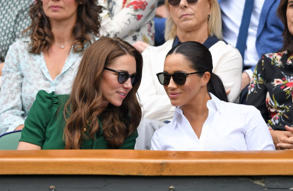 Kate and Meghan 'wanted to appear friendly' at Wimbledon as Kate attempts to include her 'for the first time since she married Harry' claims body language expert