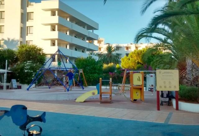 The playground in Santa Eulalia, where the ecstasy pill was found