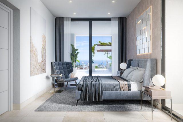One of the four bedrooms at Cristiano Ronaldo's Marbella villa