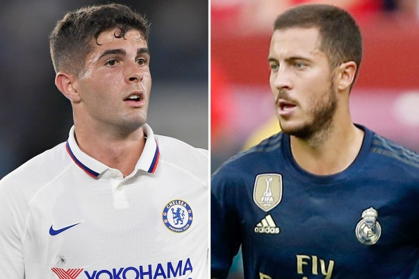 Image result for Hazard and Pulisic""