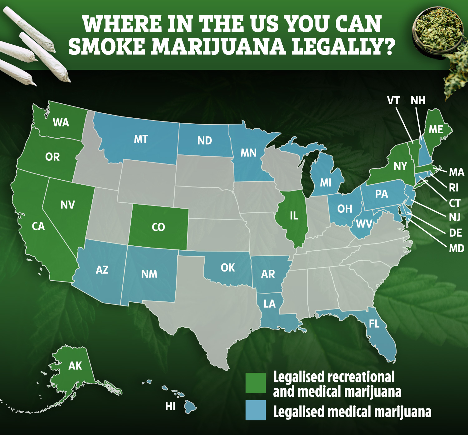 This article also comes in a fancy map version. Is Cannabis Illegal In Uk And Where Is Weed Legal To Smoke And Buy
